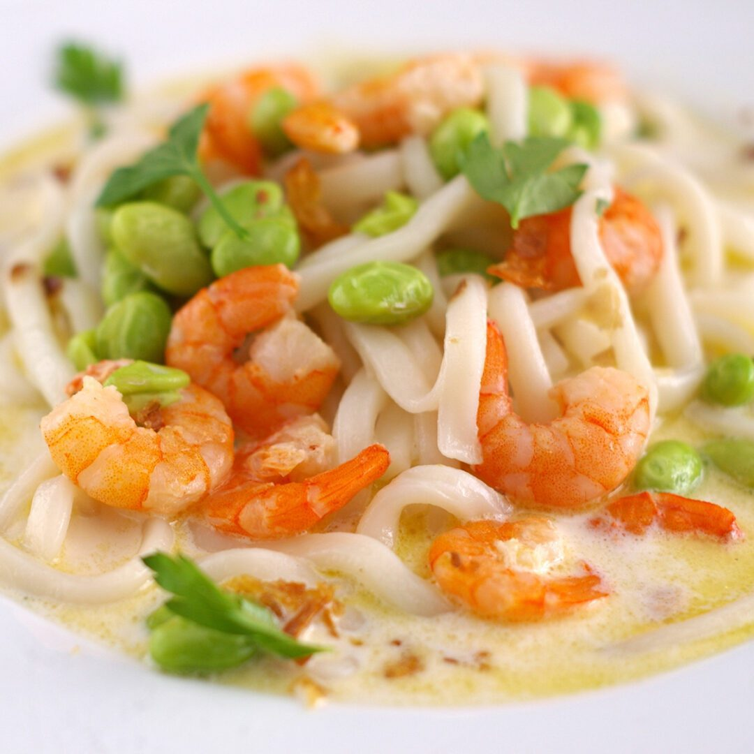 Creamy Shrimp Udon