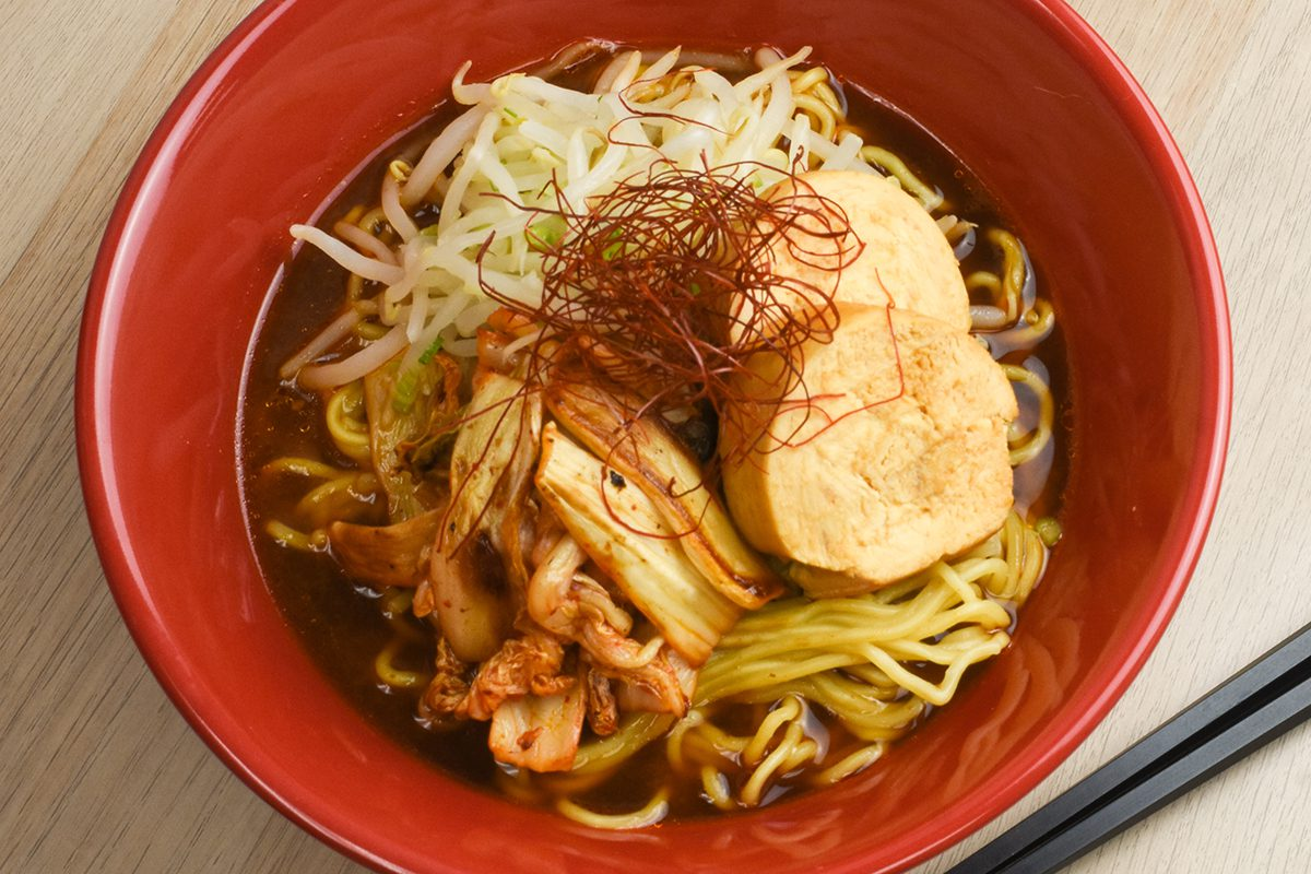 Kimchi and Bean Sprout Ramen