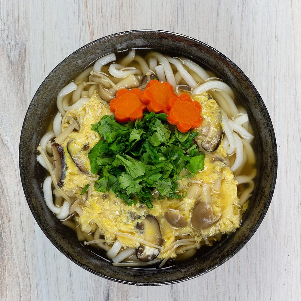 Mushroom and Egg Drop Udon