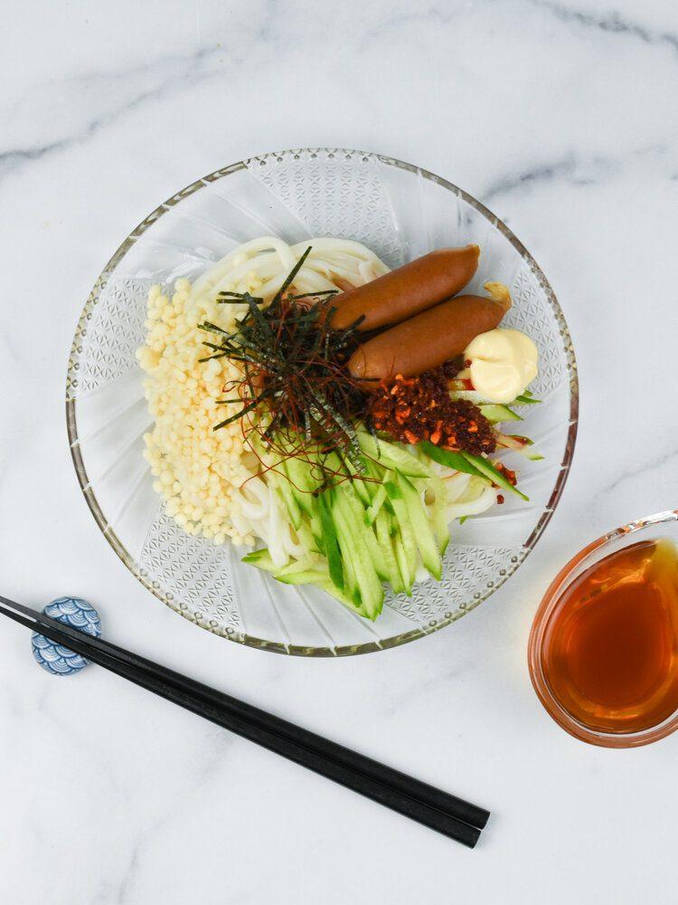 Chili Oil and Mayo Hiyashi Udon