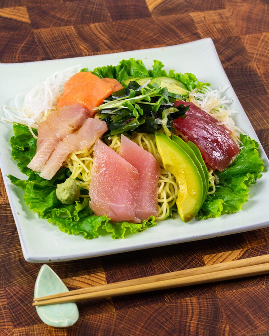 Sashimi Salad with Yuzu