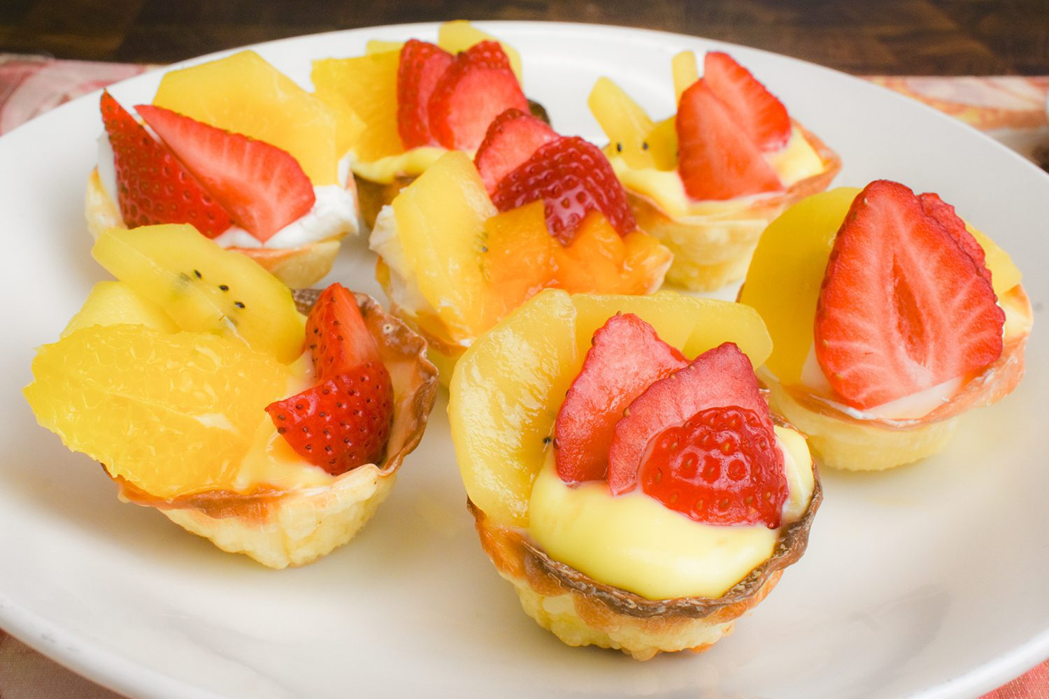 Fruit Gyoza Tart