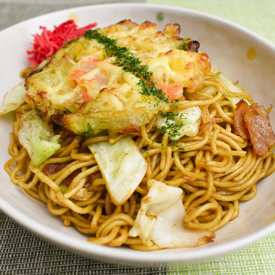 Roasted Mayonnaise with Kakiage Yakisoba