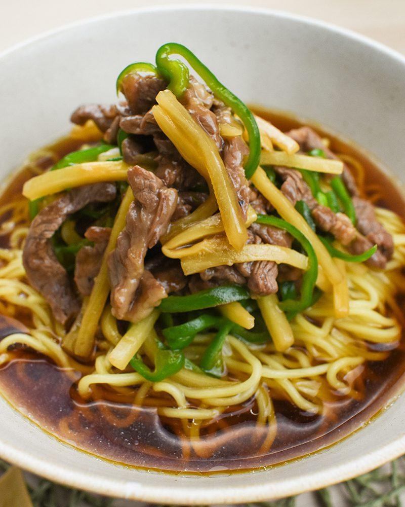 Shredded Beef with Pepper Ramen