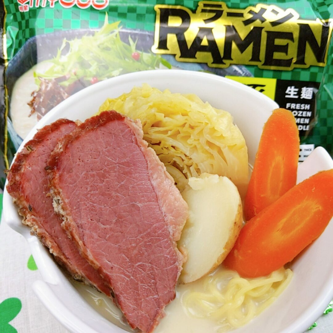 Leftover Corned Beef Tonkotsu Ramen