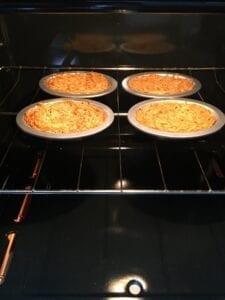 Deviled egg on shoyu ramen nest Step 8 - noodles in the oven