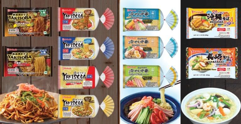 Package Renewal - Premium Yakiosba, Signature Yakisoba, Hiyashi Chuka (Cold Ramen), Regional Specialties